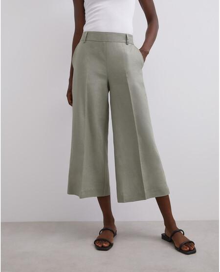 Pantala3n Culotte De Mujer En Verde Con Bolsillos