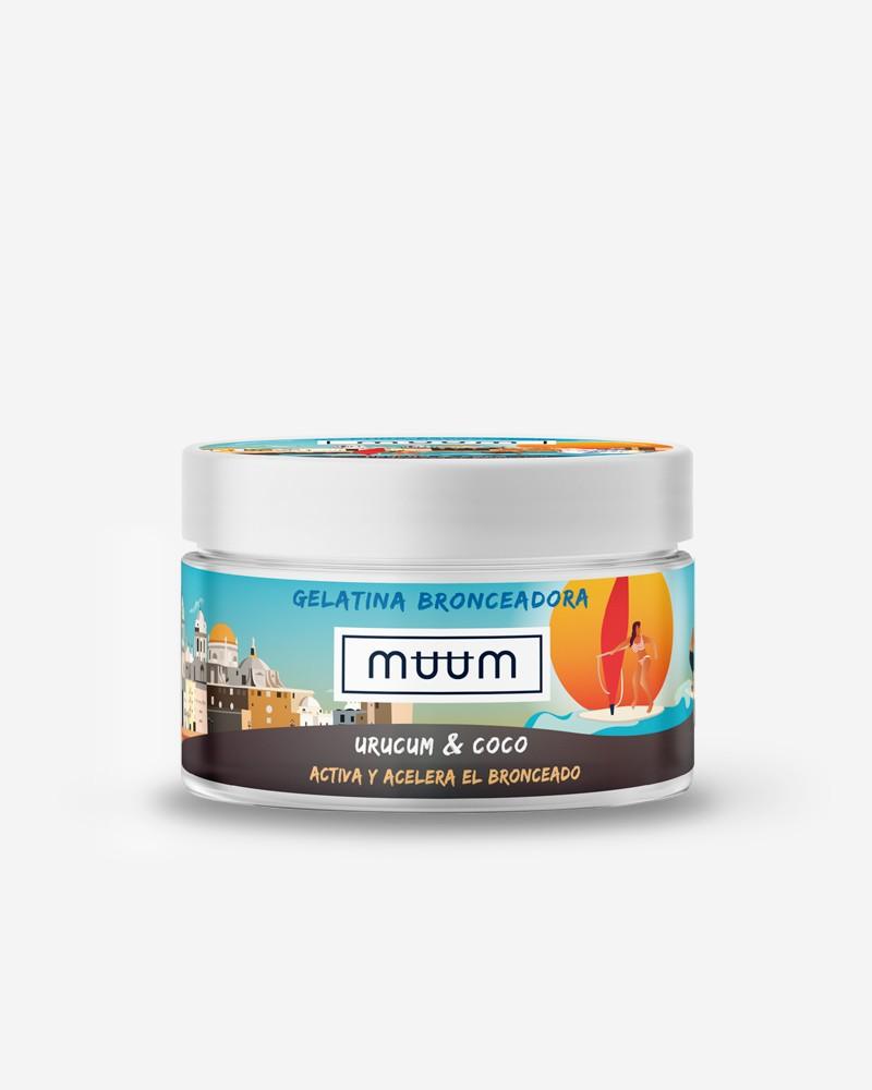 muum - Gelatina Bronceadora de Urucum y Coco - Acelerador del Bronceado con Antioxidantes Naturales