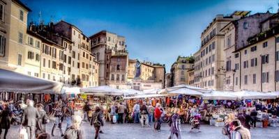 Mercado de Campo de'Fiori en Roma
