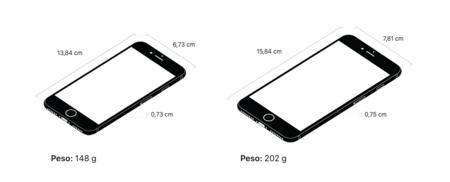 El tamaño del nuevo iPhone 8 y iPhone 8 Plus: ligero crecimiento respecto a los iPhones 7