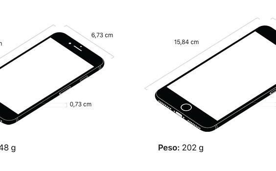 1fd7b066380 Pulgadas y tamaño del iPhone 7 vs iPhone 8 y iPhone Plus: comparativa
