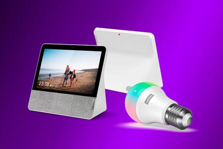 Este pack del Lenovo Smart Display 7 con bombilla Wi-Fi por 69,99 euros en MediaMarkt es una buena forma de empezar en domótica