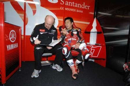 Noriyuki Haga y Michel Fabrizio con Ducati en el 2009
