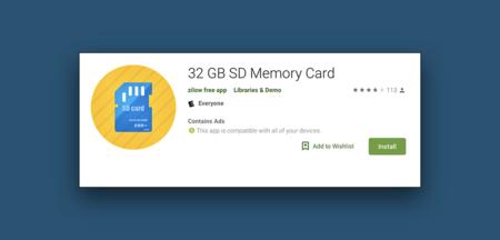 """De los mismos creadores de """"descargar memoria RAM"""" nos llega """"baja una tarjeta SD de la Play Store"""""""
