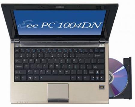 Asus Eee PC 1004DN, un ultraportátil con unidad óptica