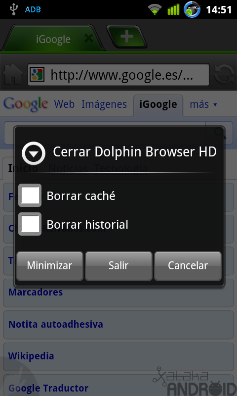 Foto de Dolphin Browser HD (14/21)
