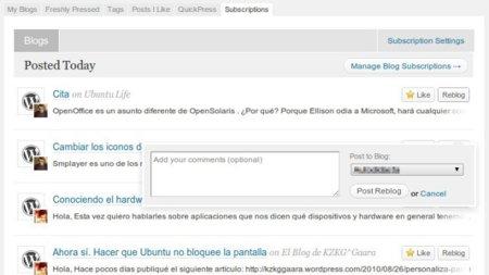 WordPress.com lanza un lector de suscripciones para blogs de su servicio