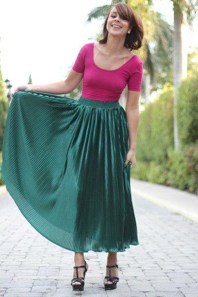 falda larga color block