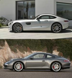 Mercedes-AMG GT Vs Porsche 911 Photo Comparison 5