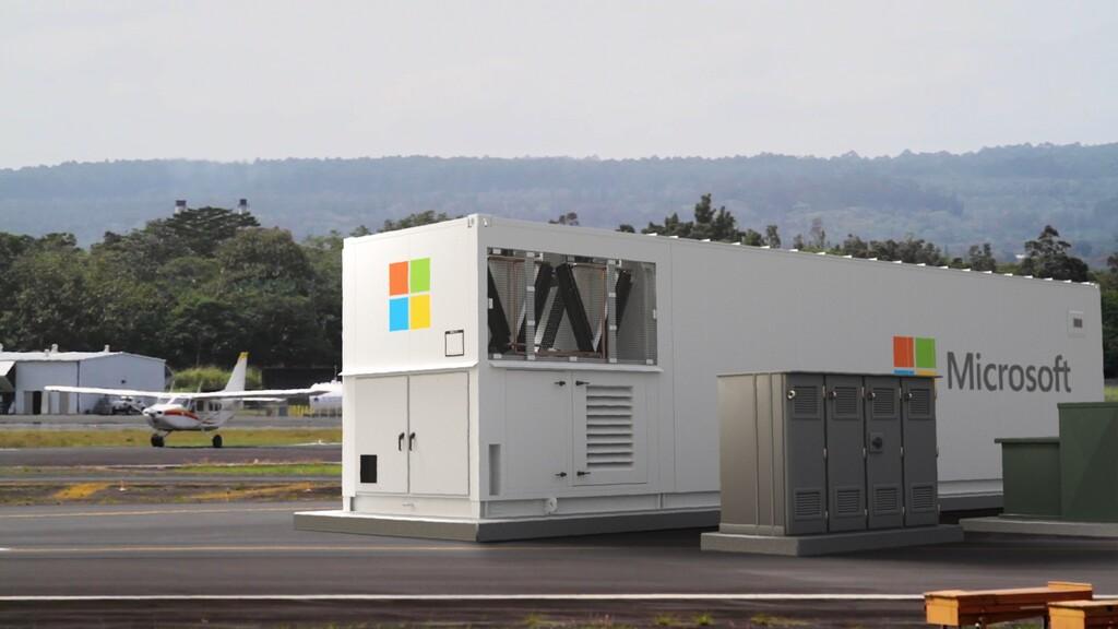 Este es el nuevo centro de datos modular y portátil de Microsoft: se conecta directo a los satélites Starlink de SpaceX