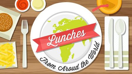 Infografía de los almuerzos del mundo. ¡Qué chulada!