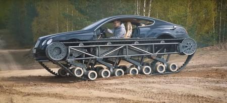 La última locura llegada de Rusia es este Bentley Continental GT convertido en tanque