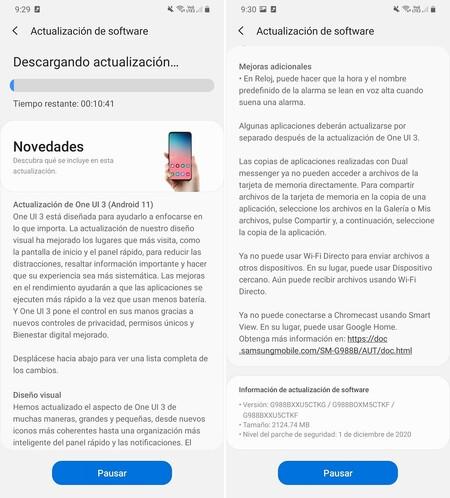 Actualizacion Android 11 One Ui 3 Samsung Galaxy S20 Plus Ultra Mexico