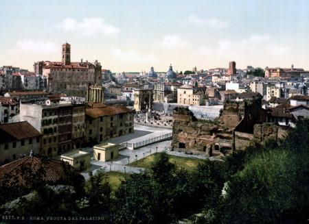 Panoramica De Roma Roma No Ha Cambiado Demasido En Un Siglo