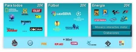 Los nuevos packs de televisión de Movistar TV