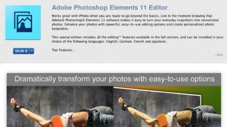 Adobe Photoshop Elements 11 llega a la Mac App Store