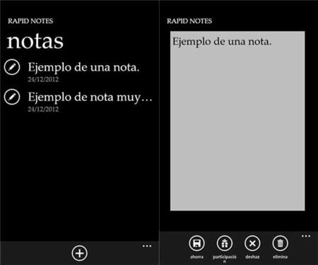 Rapid Notes app