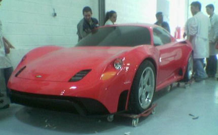 ¿Un modelo a escala del Ferrari Dino?