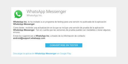 WhatsApp Beta llega a Google Play, así puedes ser el primero en recibir sus novedades
