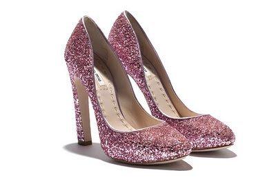 miu miu zapatos glitter