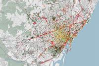Estos mapas muestran los olores de una ciudad basándose en las etiquetas de las fotos de las redes sociales