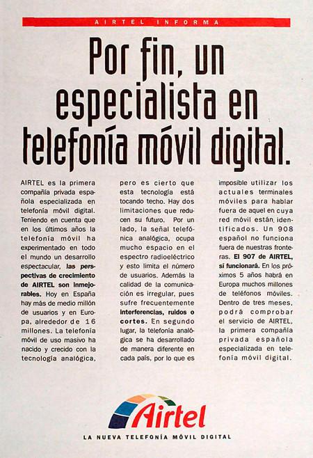 Anuncio Airtel 1995