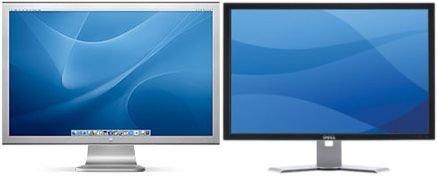 Comparativa de monitores de 30 pulgadas de Dell y Apple