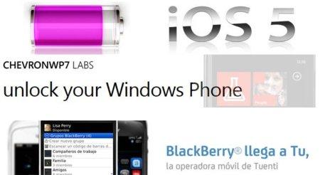 ChevronWP7 Labs para desarrolladores, Blackberry con Tu de Tuenti y la batería de iOS 5. Galaxia Xatakamóvil (del 31 de octubre al 6 de noviembre).