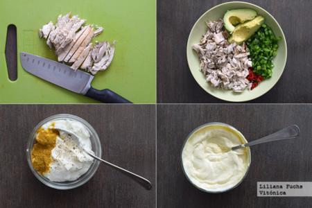 Pollo cremoso con Yogur. Pasos
