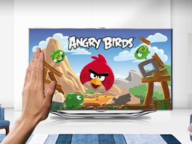 Angry birds en televisor