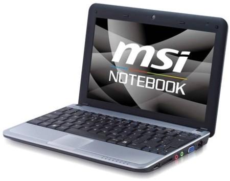 MSI U115, ultraportátil con SSD y HDD