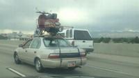 Transportando la moto