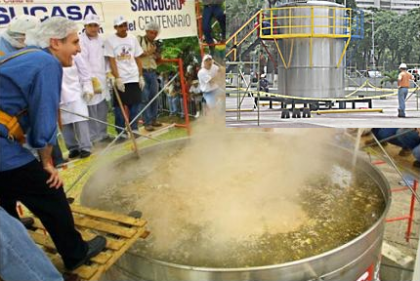 Sancocho gigante en Venezuela