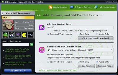 Xbox 360: XB Stream para tener RSS