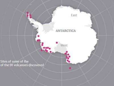 Acabamos de descubrir casi un centenar de volcanes escondidos bajo el hielo de la Antártida