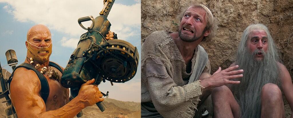 Las nueve mejores películas para ver gratis en abierto este fin de semana (21-23 mayo): 'Mad Max: Furia en la carretera', 'La vida de Brian' y más