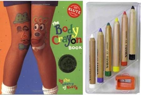 Body Crayon, un libro con lápices cosméticos para dibujar sobre la piel