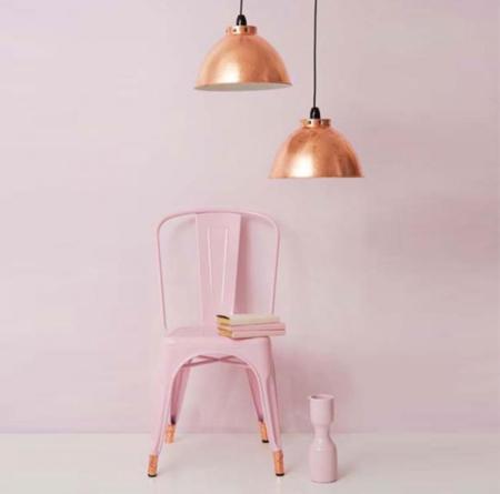 Nueva tendencia para el hogar, combina el color cobre con el rosa