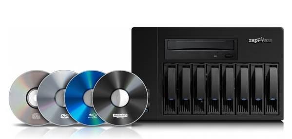 El Zappiti NAS Rip 4K HDR pasará todas tus películas en discos ópticos a discos duros sin pérdidas de compresión