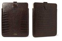 Complementa tu iPad con estilo con esta funda de piel efecto cocodrilo de Smythson