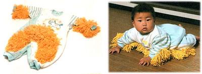Baby Mops: haz que tu bebé limpie mientras gatea