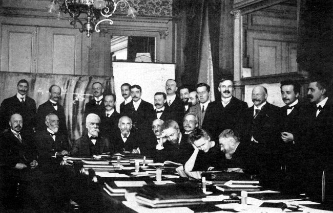 Miembros de la comunidad científica, 1911