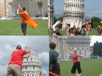 Turistas en Pisa: la foto