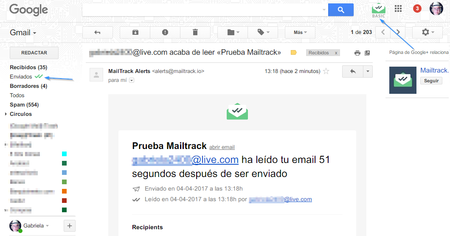 Mailtrack Inbox