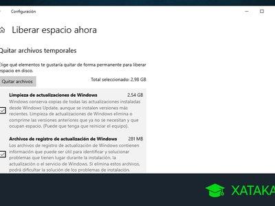 Cómo liberar espacio en Windows 10