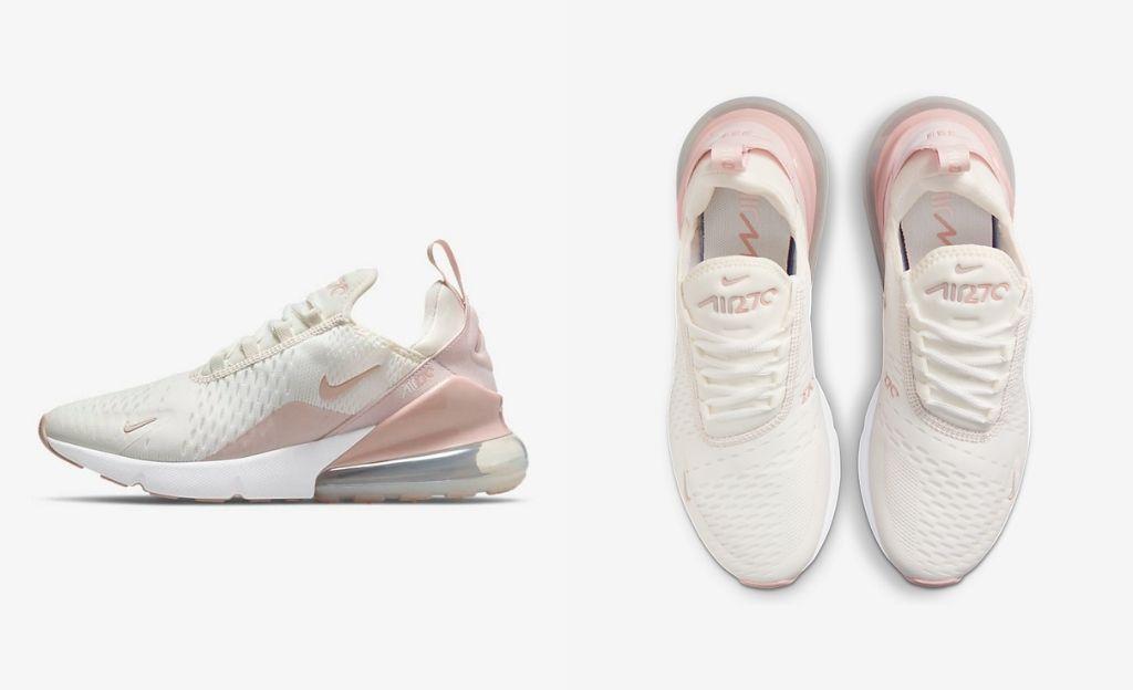 Nike Air Max 270 Essential en blanco y rosa