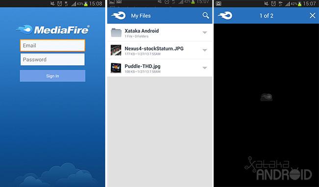 Capturas de pantalla de MediaFire para Android