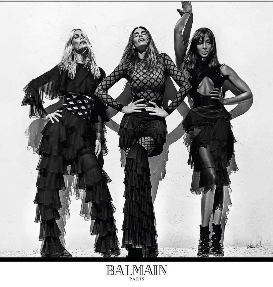 Foto de Naomi Campbell, Cindy Crawford y Claudio Schiffer para Balmain (2/9)