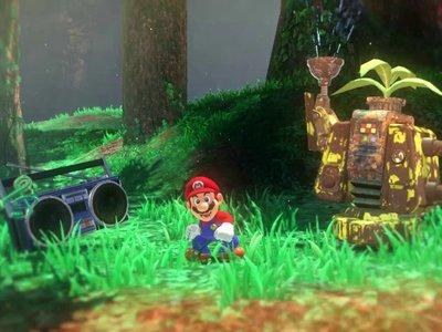 Mario nos invita a recorrer el bosque de Steam Gardens en un gameplay de Super Mario Odyssey de 10 minutos