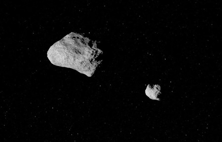 """Descubren un nuevo asteroide que tiene su propia """"luna"""" orbitando a su alrededor"""